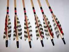 6 TRADITIONAL WOOD  11/32  LODGE POLE ARCHERY   ARROWS 50/55
