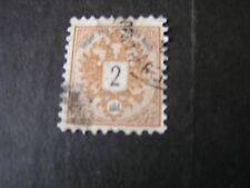 *AUSTRIA, OFFICE IN TURKEY SCOTT # 8, 2sld.VALUE BROWN 1883 NUMERICALS ISUE USED