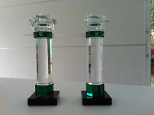 Two Swarovski 'Uranus' Candle holders - perfect condition and very rare