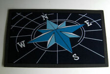 WELCOME ABOARD BOAT MAT, WIND DIRECTION, ANTI SLIP COMPOSITE RUBBER BACKING.