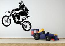 Wall Decor Art Vinyl Sticker Mural Decal Motorcycle Motocross Dirt Bike SA636