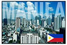 MANILA, FILIPINAS - RECUERDO ORIGINAL IMÁN DE NEVERA - MONUMENTOS / CIUDADES