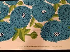 Marimekko Fabric PRIMAVERA 3 yd x 56 Free ship BLUE Cotton Maija Isola