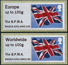 BPMA FLAGS NEW EUROPE & WW to 100g RATES T III UNDATED FLAG B4GB15 POST & GO