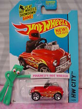 Case C/D 2015 Hot Wheels PEDAL DRIVER #74∞Red w/flames ∞Surf Patrol∞NEW Model