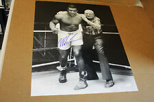 IRON MIKE TYSON SIGNED 16X20 BLACK WHITE PHOTO WITH GUS D'AMATO JSA CERTIFIED