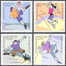 Alemania 1997 jóvenes Deportes/basketball/Patinaje/escalada/Juegos 4v Set (n27868)