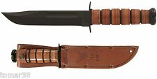 KA-BAR #1225 U.S. NAVY STRAIGHT EDGE FIGHTING UTILITY KNIFE w/ EMBOSSED SHEATH