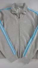 Abercrombie & Fitch Gym Issue Track Jacket Womens SZ M Sweatshirt Gray Full Zip