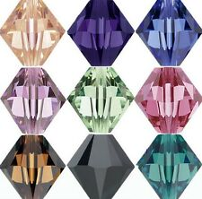 1000pcs Wholesale crystal Bicone Beads Spacer Jewerly Making 4mm