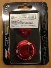 HONDA  CRF250 R  CRF 250 R  CR250F R   2010-2016  ZETA ENGINE PLUGS  RED
