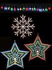 Christmas Shaped Window Light Shapes Festive Silhouette Fairy Lights