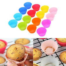 16PCS Silicone Soft Round Cake Muffin Chocolate Cupcake Liner Baking Cup Mold