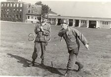WWII US Large RP- Game- Soldier- Play Horseshoes- Berlin Occupied Germany- 1946