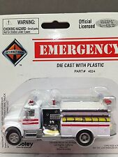HO 1/87 Boley # 4024-71 I.H. 4900 Single Axle Pumper Fire Truck - White