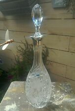 VINTAGE SILVER TOPPED CRYSTAL DECANTER C B Z HOLLAND