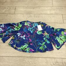 Printed silk shirt Caribbean queen sizes small-large