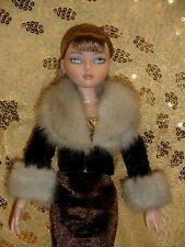 ~*~MINK FUR JACKET FOR MARILYN MONROE,EVANGELINE GHASTLY DOLLS~*~