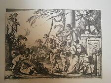 Planche gravure Laurent de la Hyre La sainte Famille