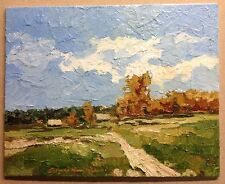 "Original Oil Painting California Artist Impressionism with Certificate.  8""x 10"""