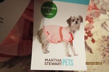 NEW ADORABLE MARTHA STEWART SOFT PINK WT RED TRIMMING THERMAL DOGGIE DRESS SZ LG