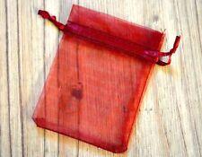 Organzabeutel 10x Organzasäckchen Stoffbeutel Beutel - Rot Ca.9 x7 Cm
