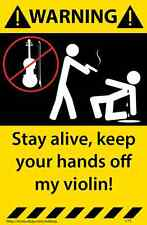Violin  Warning Sticker Funny Decal Music Instrument Case  171