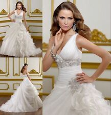 2016Sexy white/ivory Wedding dress Bridal Gown custom size 4-6-8-10-12-14-16-18+