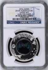 Australia Opal Series Ghost Bat 2015 1 oz .999 Silver Proof Coin NGC PF70 ER COA