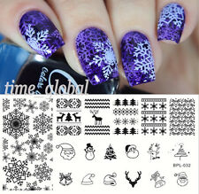 BORN PRETTY Nail Art Stamping Plate Xmas Snowflake Image Stamp Template BP-L032