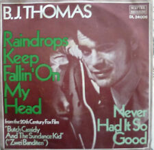 "7"" 1969 OST MINT-? B.J. THOMAS : Raindrops Keep Fallin´ On My Head"