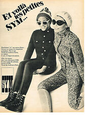 PUBLICITE ADVERTISING 054  1967  SYM   vetements de ski fuseaux knickers