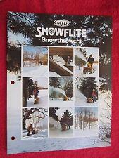 1975 MTD SNOWFLITE SNOWTHROWERS BROCHURE