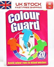 20 Sheets Colour Guard Catcher Avoid Colour Runs Washing Machine mixed Laundry