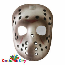 Oficial Jason Voorhees Friday 13th Deluxe Halloween Máscara de hockey vestido de fantasía