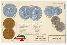 German East Africa Colonial Coins on Ad Postcard ca 1905 RARE Mint Condition