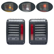 Jeep Wrangler 4WD 4X4 Off Road JK Rubicon Euro Style LED Integrated Tail Lights