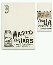 New Mason Jar Tea Towel Cotton Off White Country Kitchen Rustic Decor Lot of 2