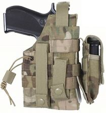 Multicam MOLLE Modular Ambidextrous Tactical Holster W/ Mag Pouch 10475