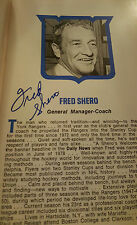 1980-81 NEW YORK RANGERS MEDIA GUIDE SIGNED BY 32 SHERO ESPOSITO CHADWICK DUGUAY