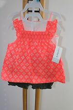 Carter's Carters Girls Size 6 Months Floral Top Shirt Bloomers NWT 3 Piece Set