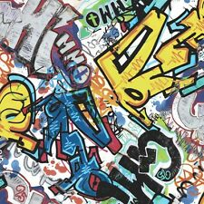 Jugendzimmer Vlies Tapete smita WHAT'S UP? WU17642 Graffiti Design multicolor