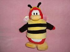 "Disney Store Club Penguin Bumble Bee Plush 10"" No Coin"