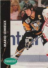 MARIO LEMIEUX 1991-92 Parkhurst Hockey card #137 Pittsburgh Penguins NR MT