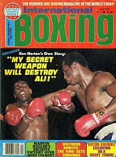 KEN NORTON/MUHAMMAD ALI International Boxing Magazine April 1978 MARVIN HAGLER