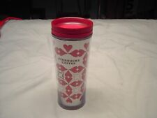 Red Heart Themed Starbuck 12 oz Tumbler