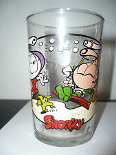 Verre à moutarde Les Snorky N° 2 - vintage glass snorks or diskies