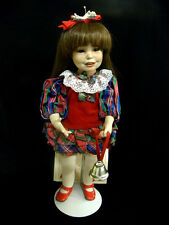 RARE YOLANDA BELLO NOELLE THE CHRISTMAS GIRL DOLL #94 WITH CERTIFICATE AND STAND