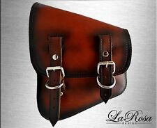 LaRosa Antique Dark Shedron Leather HD V Rod Frame Left Mounting Saddlebag