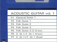 floppy SOUND DISK formatted for ROLAND W-30. ACOUSTIC GUITAR Vol.1